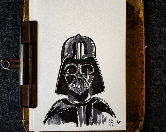 May The Sith Be With You Original Drawing 6th May 2021