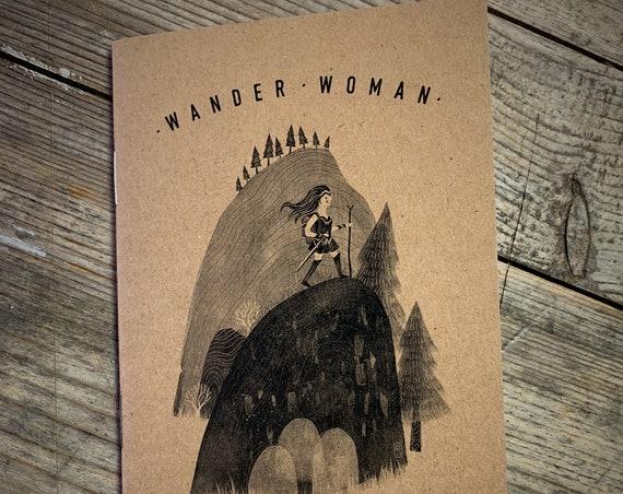 Wander Woman - A6 Notebook / Sketchbook / Journal