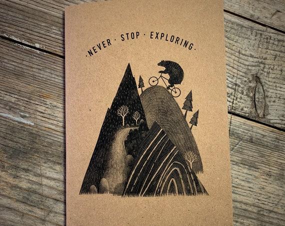 Mountain Bear - A6 Notebook / Sketchbook / Journal