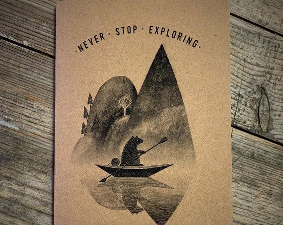 Canoe Bear - A6 Notebook / Sketchbook / Journal