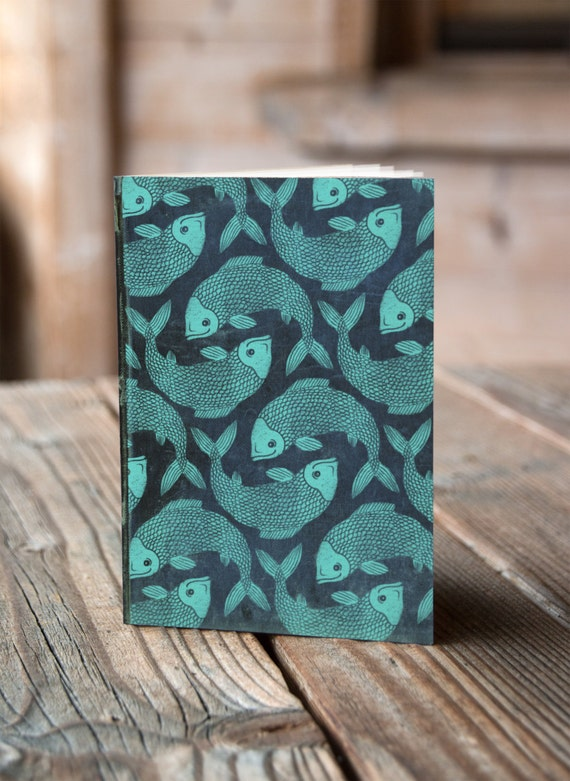 A6 Leaping Fish -  Notebook / Sketchbook / Journal