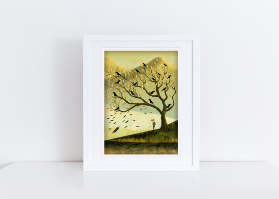 The Rook Tree - Signed Print