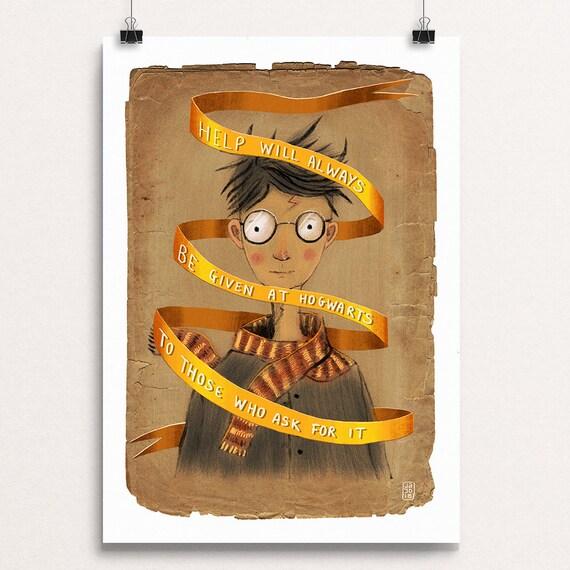 Help At Hogwarts - Signed Print