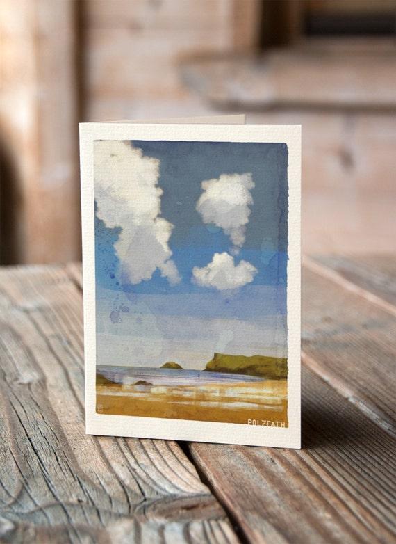 Cornish Coasts - Polzeath Greetings Card