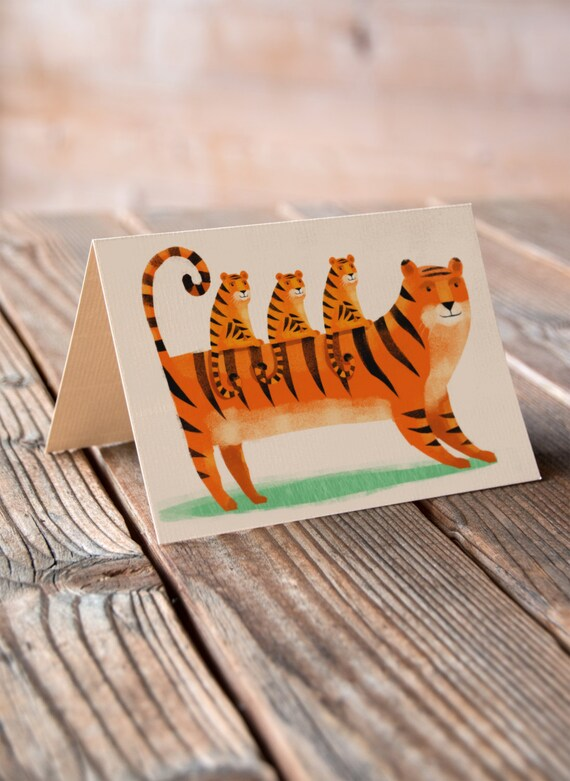 Tiger and Cubs - Mother's Day, Thank You, Birthday, Greetings Card