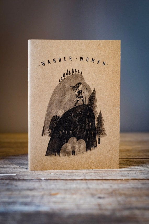 Wander Woman - A6 Notebook / Sketchbook / Journal