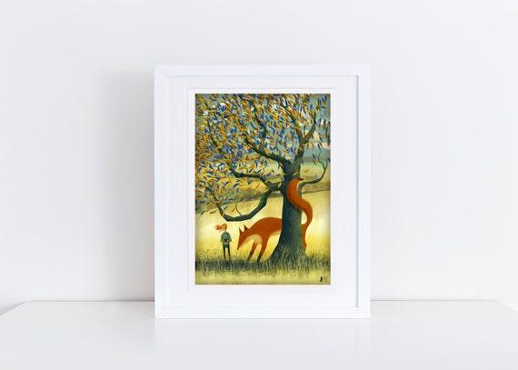 The Big Tree Fox - Signed Print