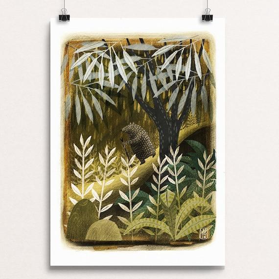 Woodland Bear - Signed Print