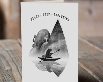Canoe Bear - Never Stop Exploring