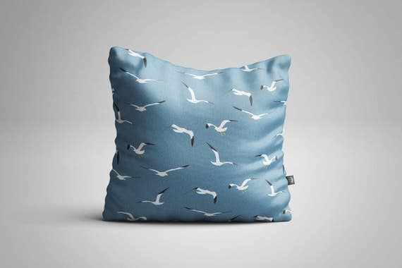 Flying Seagulls Cushion (Cover only)