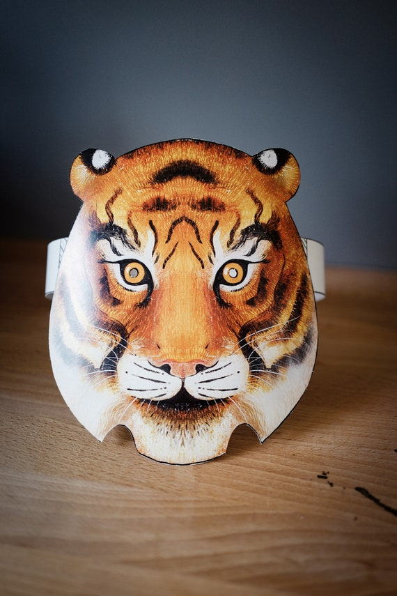 Tiger Mask - Printed cardboard mask to cutout and make at home
