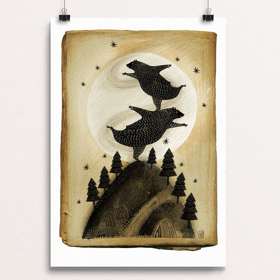 Moonlight Bears - Signed Print