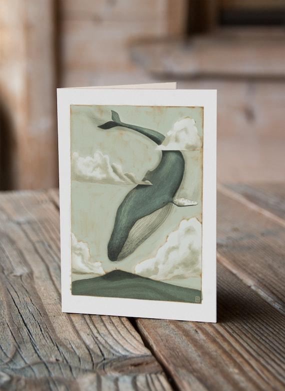 Sky Whale IV - Greetings Card