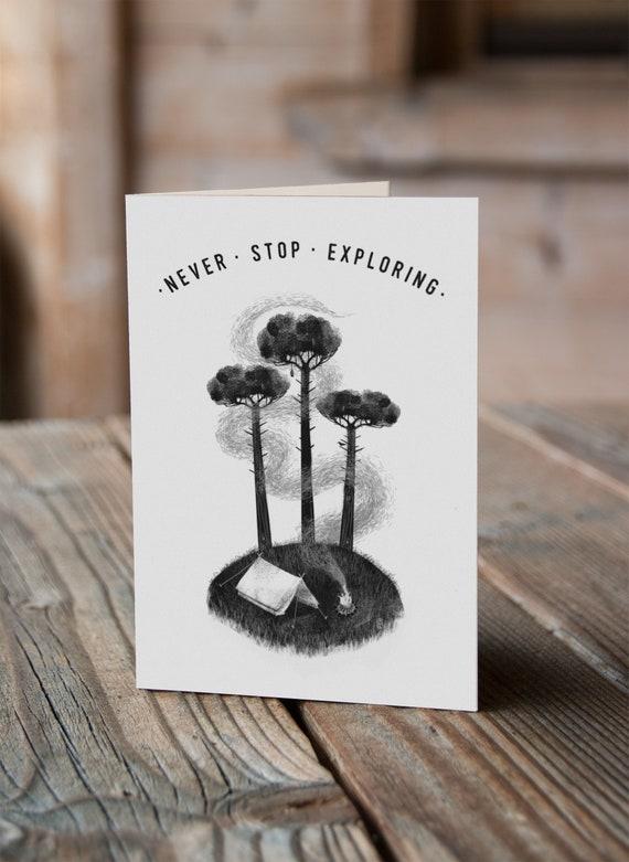 Three Pines - Greetings Card