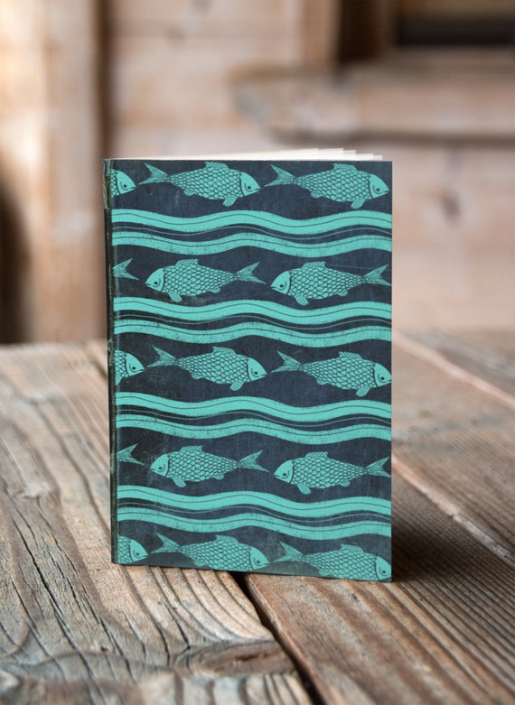 A6 Fish Pattern - Notebook / Sketchbook / Journal
