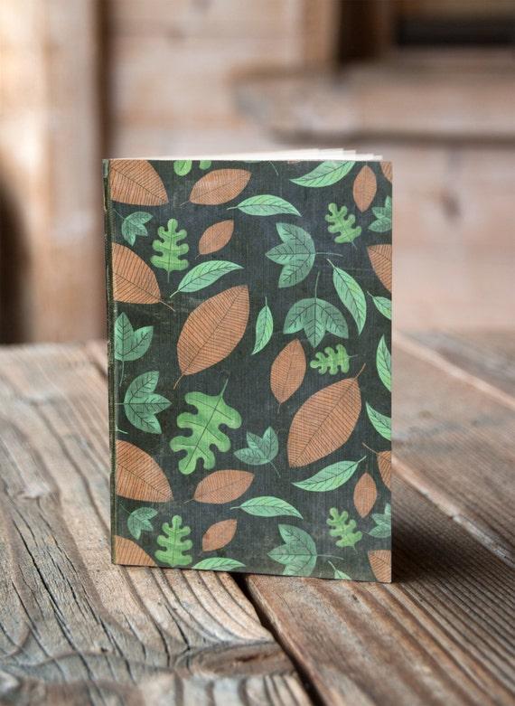 A6 Leaves Pattern -  Notebook / Sketchbook