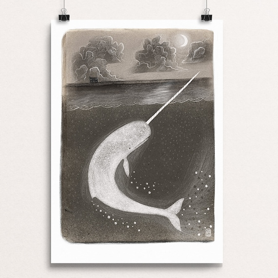 Narwhal - Signed Print