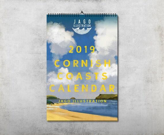 Cornish Coasts 2019 Calendar Family Planner