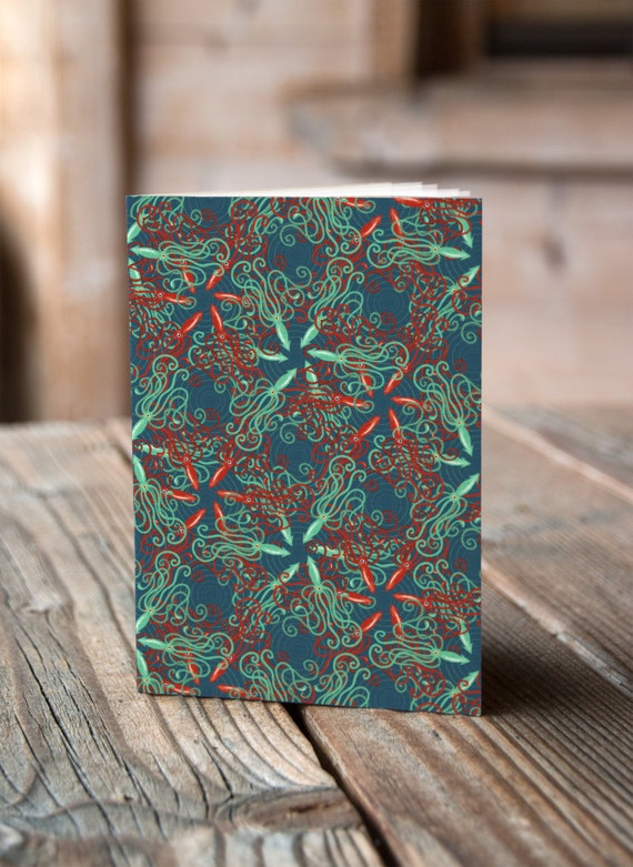 A6 Squid Pattern - Notebook / Sketchbook / Journal
