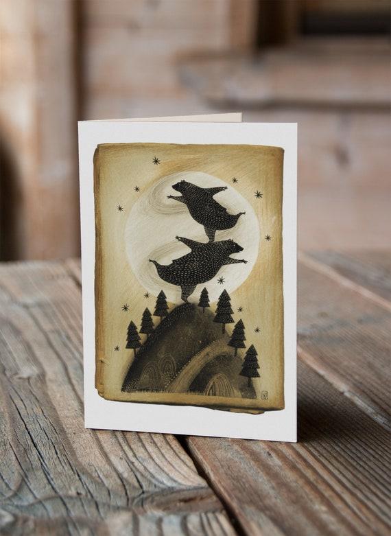 Dancing Bears - Greetings Card