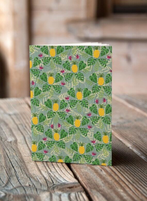 A6 Tropical Pineapple - Notebook / Sketchbook / Journal