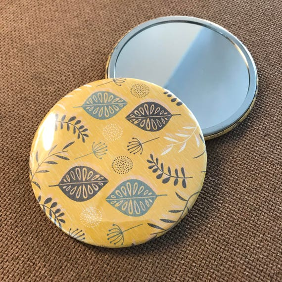Seeds & Leaves (Yellow) - Pocket Mirror