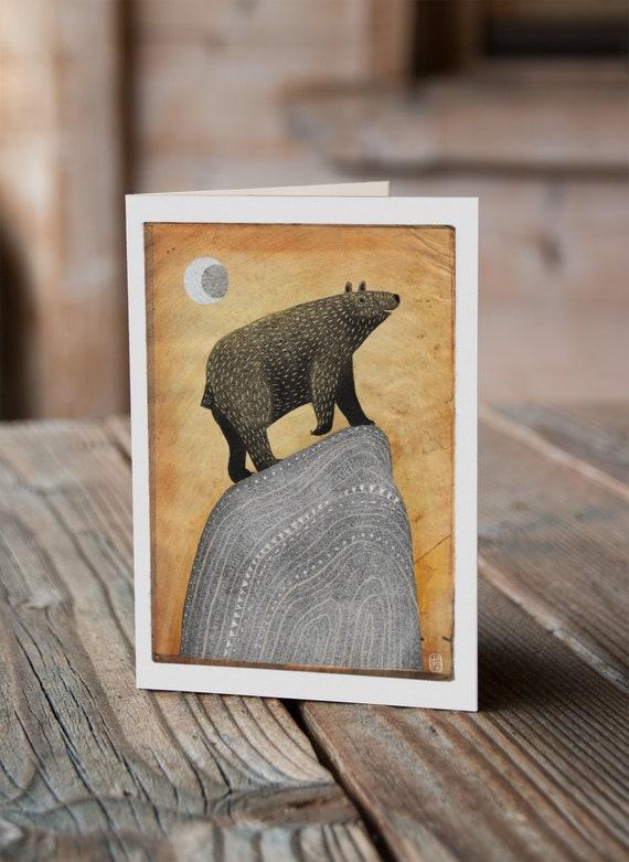 Moon Bear - Greetings Card