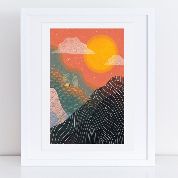 Sunset Landscape - Signed print