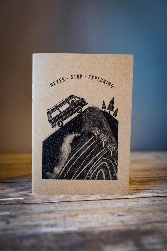Campervan Bear - A6 Notebook / Sketchbook / Journal
