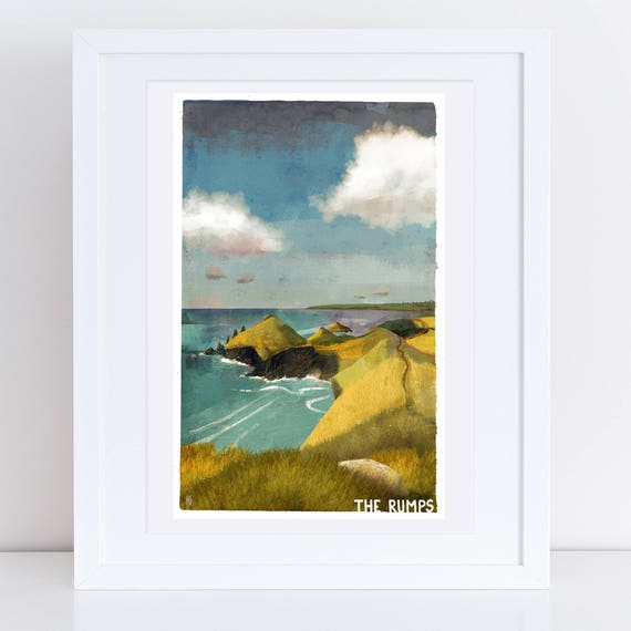 The Rumps - Signed Cornish Coasts Giclee Print