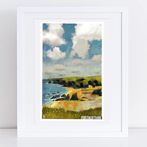 Porthcothan - Signed Cornish Coasts Giclee Print