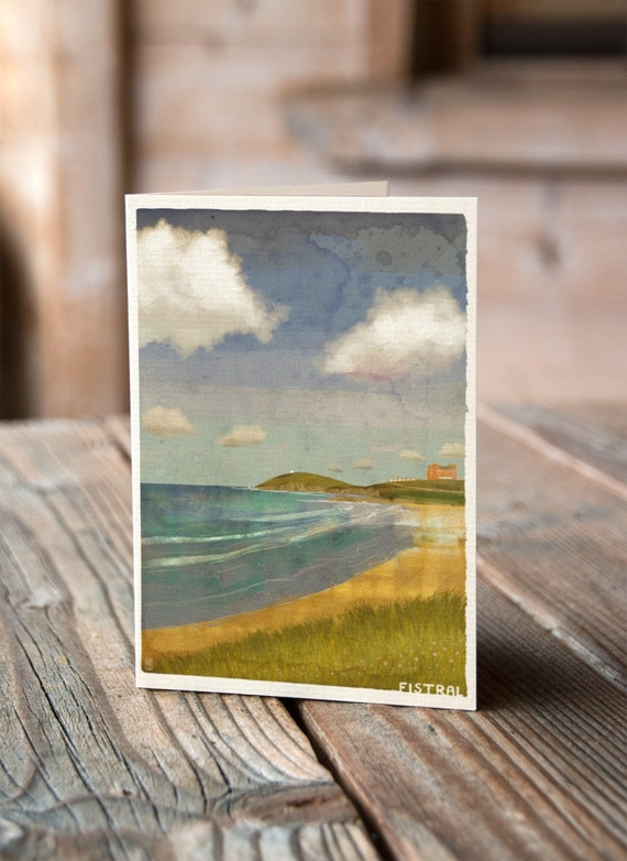 Cornish Coasts - Fistral Greetings Card