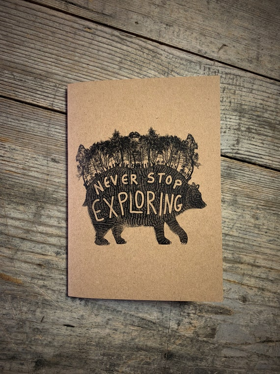 Forest Bear - A6 Notebook / Sketchbook / Journal
