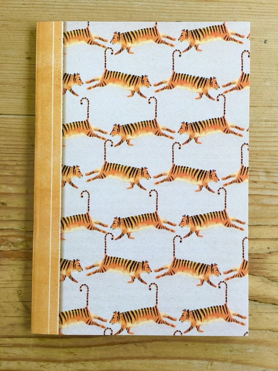 A6 Notebook - Repeating Tigers
