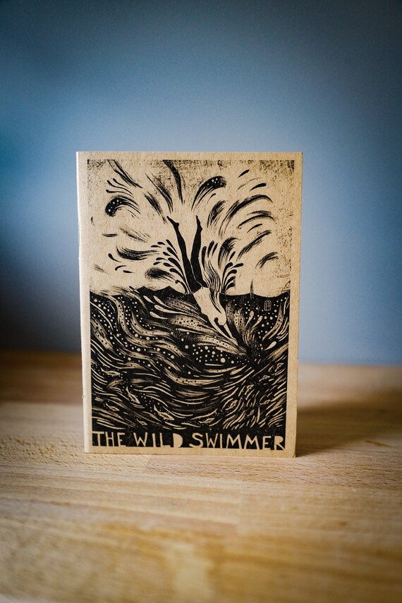 The Wild Swimmer - A6 Notebook / Sketchbook / Journal