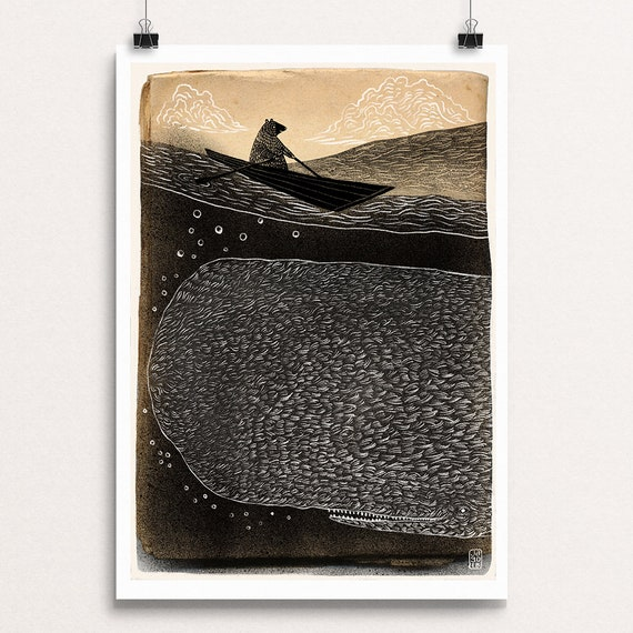 Whale and Bear - Signed Print from Cruel & Curious