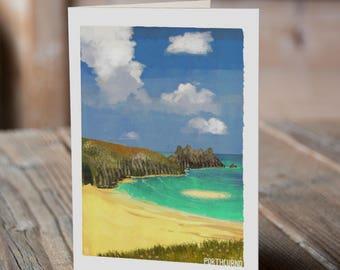 Cornish Coasts - Porthcurno Greetings Card