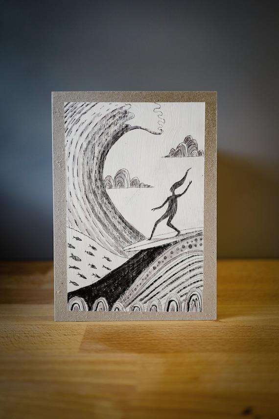Surfer Original Drawing 10th May 2021