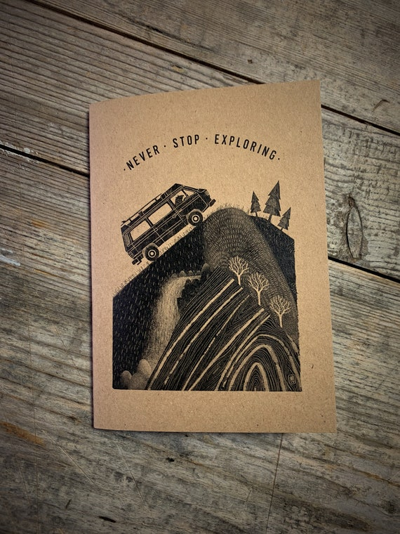 Campervan Bear - A6 Notebook / Sketchbook / Journal