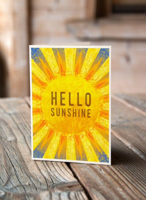 Hello Sunshine - Valentines, Anniversary, Wedding, Engagement Card