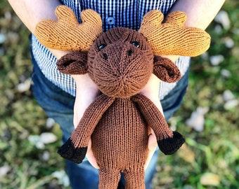 DIGITAL DOWNLOAD, Knit Moose, Knitting Pattern, Moose Pattern, Christmas Moose, Moose Toy, Moose Plush, Moose Amigurumi, Moose