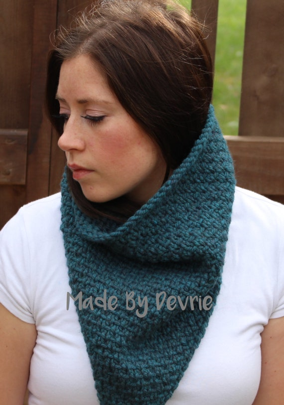 Digital Download Chunky Knit Cowl Knitting Pattern 108 Etsy