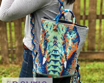 Mochila bag pattern, Crochet Backpack, crochet bag, tapestry crochet, bag pattern, elephant bag, DIGITAL DOWNLOAD, crochet pattern, backpack