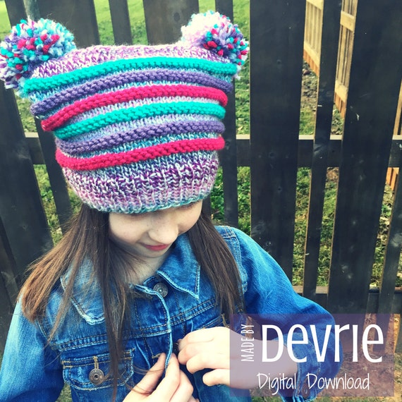 Digital Download Hat Knitting Pattern Childs Hat Pattern Etsy