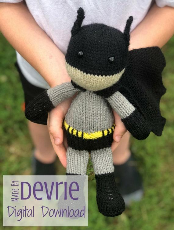 Digital Download Batman Inspired Toy Knit Toy Knitting Etsy