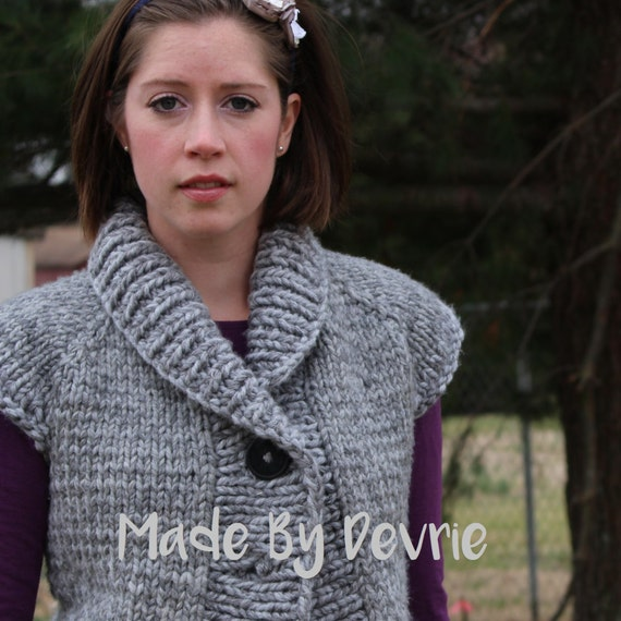 Digital Download Knitted Vest Knitting Pattern Knitted Etsy