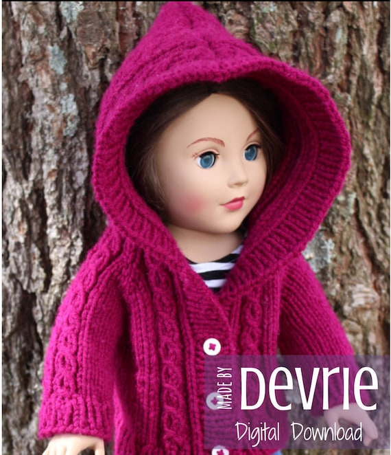 Digital Download 18 Inch Doll Clothes Knitting Pattern Knit Etsy