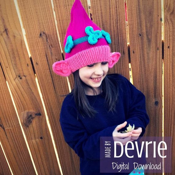 Digital Download Poppy Troll Hat Knitting Pattern Knit Hat Etsy