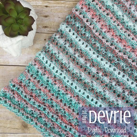 DIGITAL DownloadKnit Lace Cowl KNITTING PATTERN knit scarf | Etsy