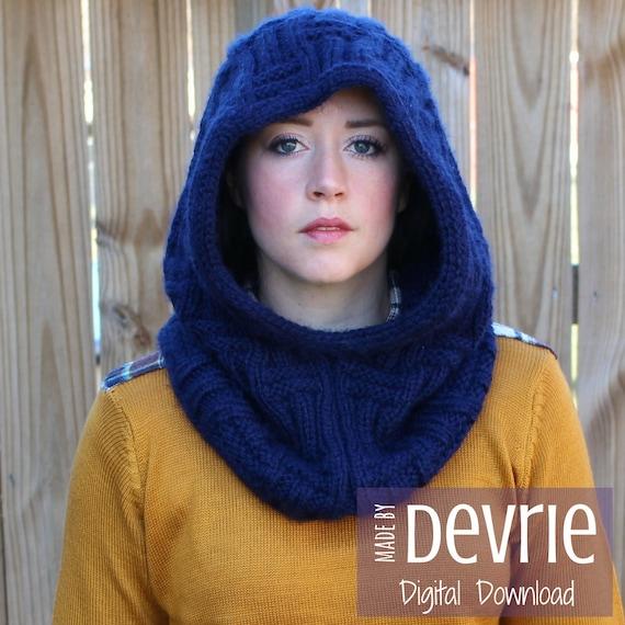 Digital Download Knit Hood Knit Hood Pattern Knit Cowl Etsy